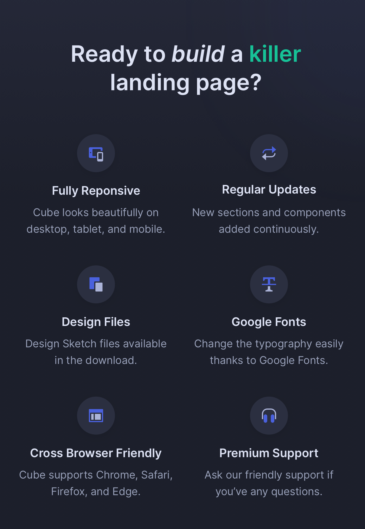 Cube - HTML Landing Page Template for Startups - 6