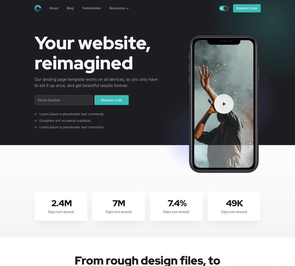 Appy landing template