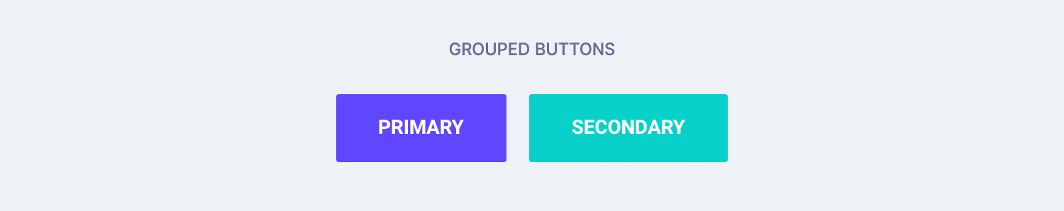 Grouped buttons