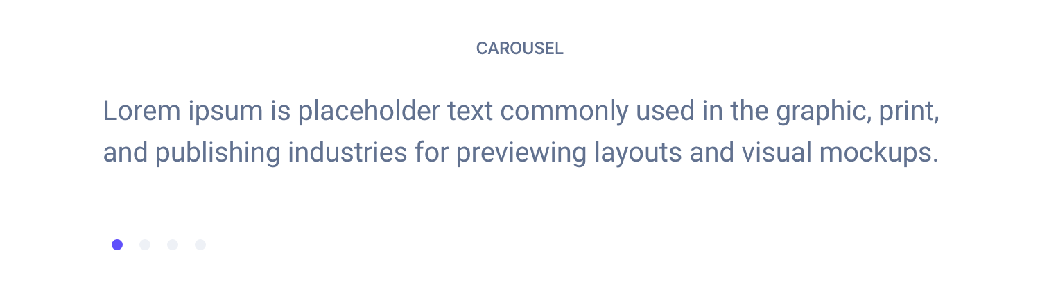 Carousel component