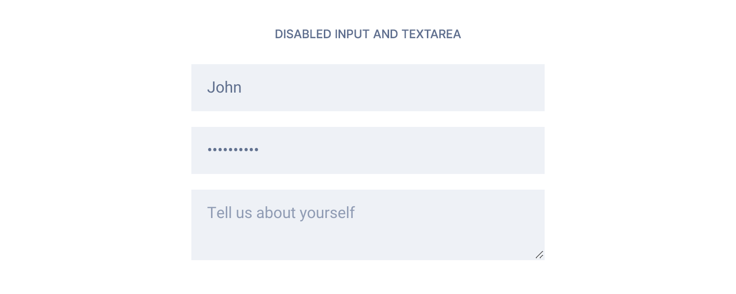 Disabled forms