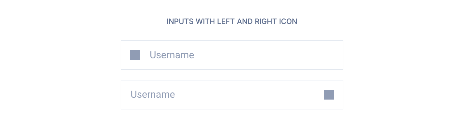 Input with left or right icon